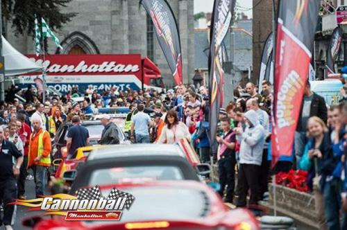 busy parade of supercars