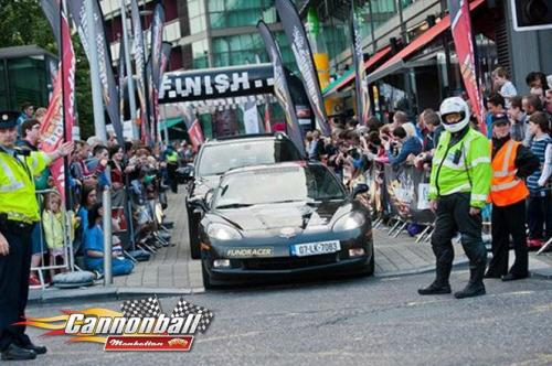 police at supercar race