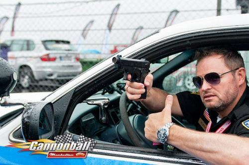 police at supercars show road