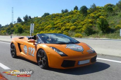 A Lamborghini Gallardo Spider